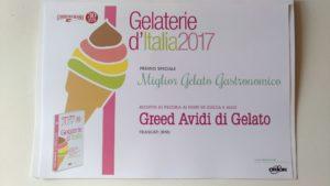 premio speciale miglior gelato gastronomico frascati km 0 italia roma rome italy ice cream dario rossi greed avidi di gelato